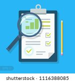 clipboard with sales growth... | Shutterstock .eps vector #1116388085