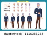 businessman. front  side  back... | Shutterstock .eps vector #1116388265