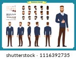 standing young businessman.... | Shutterstock .eps vector #1116392735
