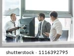 corporate business people work... | Shutterstock . vector #1116392795