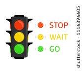 traffic light icon in flat... | Shutterstock .eps vector #1116396605