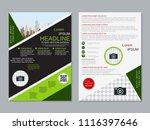 modern business two sided flyer ... | Shutterstock .eps vector #1116397646