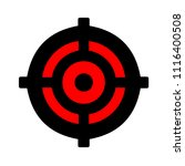 crosshairs icon   vector target ... | Shutterstock .eps vector #1116400508