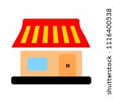 shopping store building  ... | Shutterstock .eps vector #1116400538