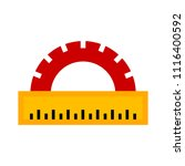 protractor ruler icon  school... | Shutterstock .eps vector #1116400592