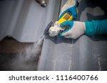 technician working renew the... | Shutterstock . vector #1116400766
