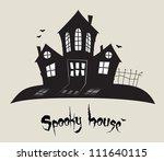scary spooky house  halloween... | Shutterstock .eps vector #111640115