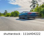 the car on the road at full... | Shutterstock . vector #1116404222