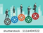 business people standing on... | Shutterstock .eps vector #1116404522