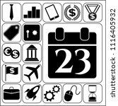 set of 17 business high quality ... | Shutterstock .eps vector #1116405932