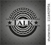 talk dark emblem | Shutterstock .eps vector #1116405956
