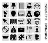 set of 25 business high quality ... | Shutterstock .eps vector #1116406052