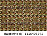 nature flowers raster seamless... | Shutterstock . vector #1116408392