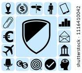 set of 17 business symbols of... | Shutterstock .eps vector #1116410042