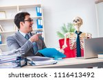 businessman working with... | Shutterstock . vector #1116413492
