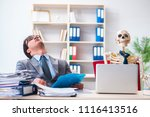 businessman working with... | Shutterstock . vector #1116413516