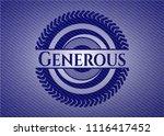 generous emblem with jean... | Shutterstock .eps vector #1116417452