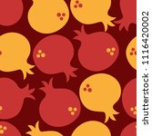 red and yellow shana tova...   Shutterstock .eps vector #1116420002
