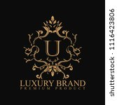logo luxury with design element ... | Shutterstock .eps vector #1116423806