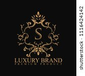 logo luxury with design element ... | Shutterstock .eps vector #1116424142