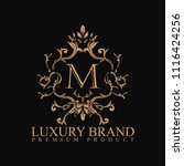 logo luxury with design element ... | Shutterstock .eps vector #1116424256