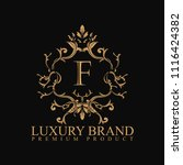 logo luxury with design element ... | Shutterstock .eps vector #1116424382