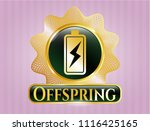 shiny emblem with battery...   Shutterstock .eps vector #1116425165