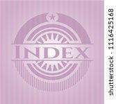 index realistic pink emblem | Shutterstock .eps vector #1116425168