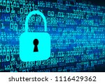 safety concept  closed padlock... | Shutterstock .eps vector #1116429362
