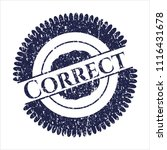 blue correct distressed grunge...   Shutterstock .eps vector #1116431678