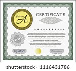 green diploma. customizable ... | Shutterstock .eps vector #1116431786