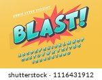 trendy 3d comical font design ... | Shutterstock .eps vector #1116431912