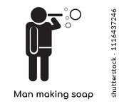 man making soap bubbles icon... | Shutterstock .eps vector #1116437246