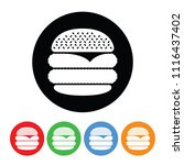 double cheeseburger icon in a... | Shutterstock .eps vector #1116437402