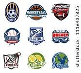 set of soccer  basketball ... | Shutterstock .eps vector #1116437825