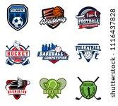 set of soccer  basketball ...   Shutterstock .eps vector #1116437828