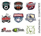 set of soccer  basketball ...   Shutterstock .eps vector #1116437855