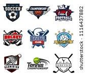 set of soccer  basketball ...   Shutterstock .eps vector #1116437882