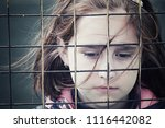 Stock photo abandoned child children without parents social problems of the population raising children in 1116442082