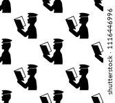 policeman checks documents icon.... | Shutterstock .eps vector #1116446996
