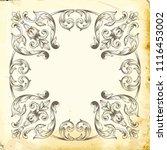 retro baroque decorations... | Shutterstock .eps vector #1116453002