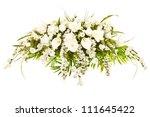 silk casket cover funeral... | Shutterstock . vector #111645422