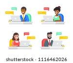 concept of online technical... | Shutterstock .eps vector #1116462026