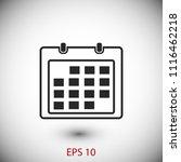calendar icon    vector eps 10...   Shutterstock .eps vector #1116462218