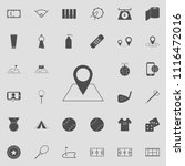 pin on the map icon. detailed... | Shutterstock .eps vector #1116472016