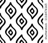 black and white seamless ethnic ... | Shutterstock .eps vector #1116476165