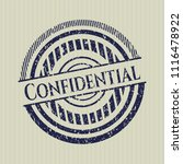 blue confidential with rubber... | Shutterstock .eps vector #1116478922