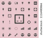 electric outlet icon. detailed... | Shutterstock .eps vector #1116480866