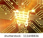 shopping cart vector electronic ... | Shutterstock . vector #111648836