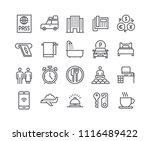 editable simple line stroke... | Shutterstock .eps vector #1116489422
